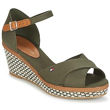 Schuhe Damen Sandalen / Sandaletten Tommy Hilfiger ICONIC ELBA SANDAL BASIC Grün