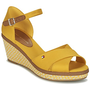 Schuhe Damen Sandalen / Sandaletten Tommy Hilfiger ICONIC ELBA SANDAL BASIC Gelb