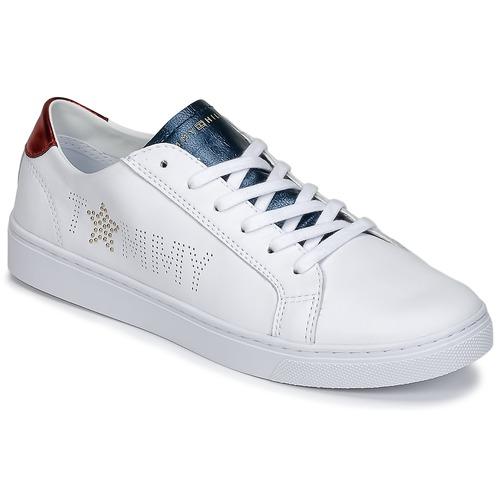 4d1b2c7d5ddd3 Tommy   Hilfiger VENUS 22 Weiss   Blau   Tommy Rot Schuhe Sneaker Low Damen  79