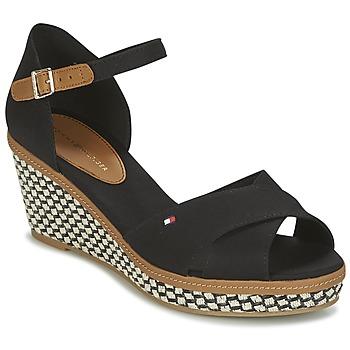 Schuhe Damen Sandalen / Sandaletten Tommy Hilfiger ICONIC ELBA SANDAL BASIC Schwarz