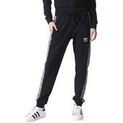 Kleidung Damen Jogginghosen adidas Originals Shell Cuff TP Schwarz
