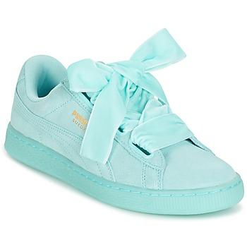 Schuhe Damen Sneaker Low Puma WNS SUEDE HEART RESET.BLUE Blau / Pastel