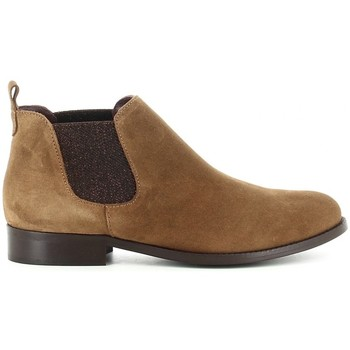 Schuhe Damen Low Boots Oskarbi 27500 Marron
