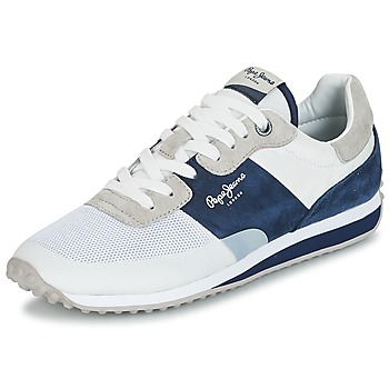 Schuhe Herren Sneaker Low Pepe jeans GARRET SAILOR Weiss / Blau