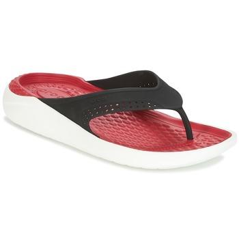 Schuhe Zehensandalen Crocs LITERIDE FLIP Schwarz / Rot