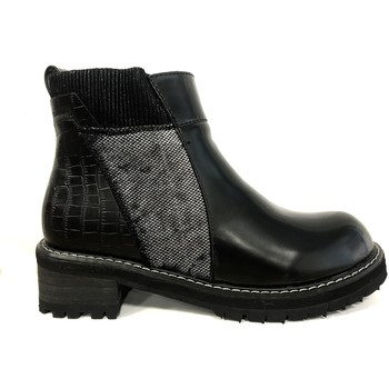 Schuhe Damen Boots Cassis Côte d'Azur Noe Bottines Vernis Noir Schwarz