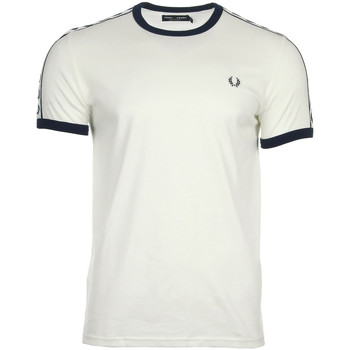 Kleidung Herren T-Shirts Fred Perry Taped Ringer T-shirt Snow White