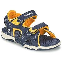 Schuhe Kinder Sandalen / Sandaletten Timberland ADVENTURE SEEKER 2-STRAP SANDAL Blau