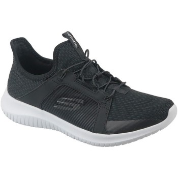 Schuhe Damen Sneaker Low Skechers Ultra Flex Graphit,Weiß