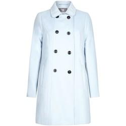Kleidung Damen Mäntel Bhs - Frauen geknöpfter Wintermantel, blau Blue