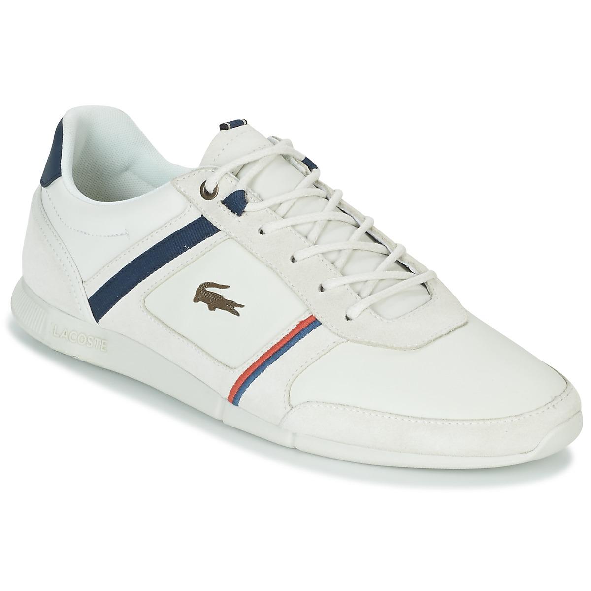 Lacoste MENERVA 118 1 Weiss - Kostenloser Versand bei Spartoode ! - Schuhe Sneaker Low Herren 100,00 €