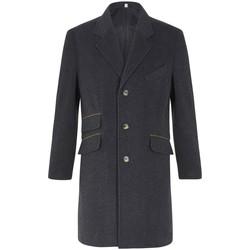 Kleidung Herren Mäntel De La Creme -Herren Wolle Kaschmir Winter Slim Fit Luxus Mantel Grey