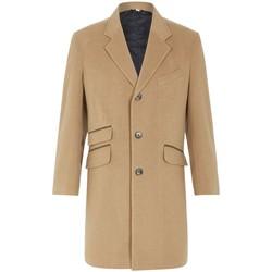 Kleidung Herren Mäntel De La Creme -Herren Wolle Kaschmir Winter Slim Fit Luxus Mantel BEIGE