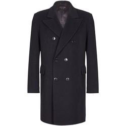 Kleidung Herren Mäntel De La Creme -Herren Wolle Kaschmir Winter Slim Fit Luxus Mantel Black