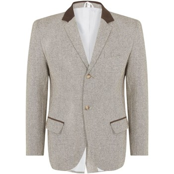 Kleidung Herren Jacken / Blazers De La Creme Damen Tweed Mantel Brown
