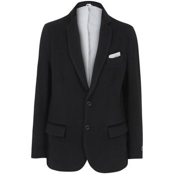 Kleidung Herren Jacken / Blazers De La Creme -Herren Wolle Kaschmir Winter Slim Fit Luxus Mantel Black