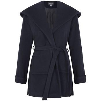 Kleidung Damen Mäntel De La Creme Wintermantel aus Wolle Cashmere mit Kapuze Blue