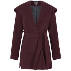 Kleidung Damen Mäntel De La Creme Wintermantel aus Wolle Cashmere mit Kapuze Red