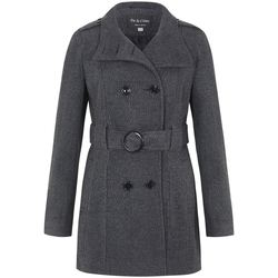 Kleidung Damen Trenchcoats De La Creme - Damen Wolle Belted Wintermantel Grey