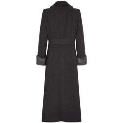 Kleidung Damen Mäntel De La Creme Doppelter, langer Mantel Grey