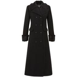 Kleidung Damen Mäntel De La Creme Doppelter, langer Mantel Black