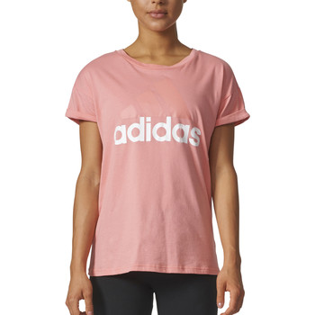 Kleidung Jungen T-Shirts adidas Performance Essentials Linear LO Tee Rose