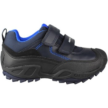 Schuhe Kinder Sneaker Low Geox JN SAVAGE ZAPATILLA DOBLE VELCRO BLUE