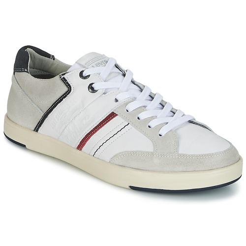 Levi's BEYERS Weiss  Schuhe Sneaker Low Herren 71,99