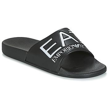 Schuhe Pantoletten Emporio Armani EA7 SEA WORLD VISIBILITY M SLIPPER Schwarz / Weiss