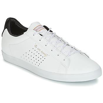 Schuhe Damen Sneaker Low Le Coq Sportif AGATE LO S LEA/SATIN Weiss / Schwarz