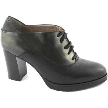 Schuhe Damen Ankle Boots Melluso schwarze Schuhe L5221 dcollet Säule Haut schnürt Nero