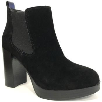 Schuhe Damen Low Boots Cassis Côte d'Azur Cassis cote d'azur Bottine Ludivine Noir Schwarz