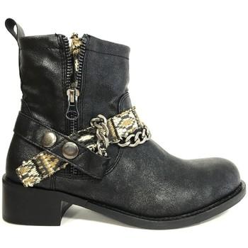 Schuhe Damen Low Boots Cassis Côte d'Azur Cassis cote d'azur Bottine Lithosy Noir Schwarz