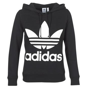 Kleidung Damen Sweatshirts adidas Originals TREFOIL HOODIE Schwarz