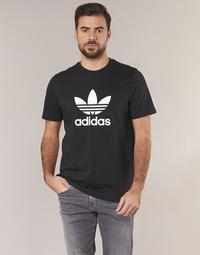 Kleidung Herren T-Shirts adidas Originals TREFOIL T SHIRT Schwarz