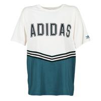 Kleidung Damen T-Shirts adidas Originals ADIBREAK SS TEE Weiss / Marine