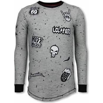 Kleidung Herren Sweatshirts Local Fanatic Long Embriordry Patches Rockstar Grau