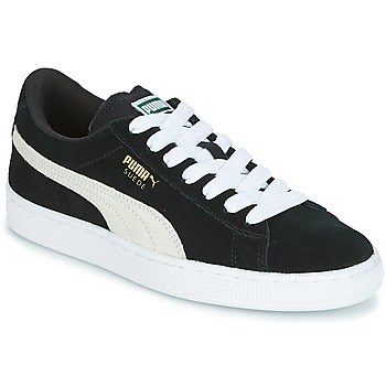 Schuhe Kinder Sneaker Low Puma SUEDE JR Schwarz / Weiss