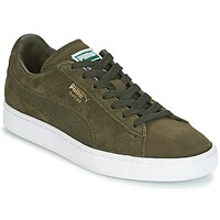 Schuhe Sneaker Low Puma SUEDE CLASSIC + Kaki / Weiss