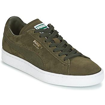 Schuhe Herren Sneaker Low Puma SUEDE CLASSIC + Kaki / Weiss