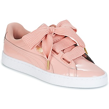 Schuhe Damen Sneaker Low Puma BASKET HEART PATENT W'S Rose