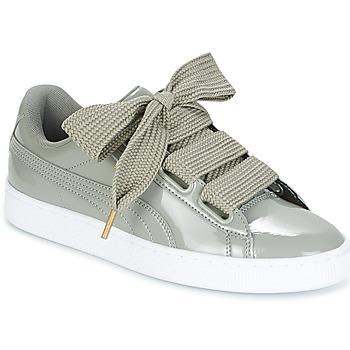 Schuhe Damen Sneaker Low Puma BASKET HEART PATENT W'S Grau