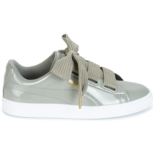 Puma BASKET HEART PATENT W'S Grau  Schuhe Sneaker Low Damen 75,99