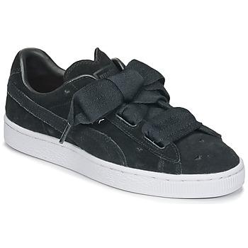Schuhe Mädchen Sneaker Low Puma SUEDE HEART VALENTINE JR Schwarz