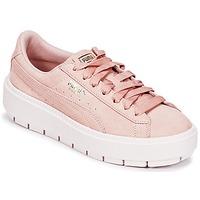 Schuhe Damen Sneaker Low Puma SUEDE PLATFORM TRACE W'S Beige