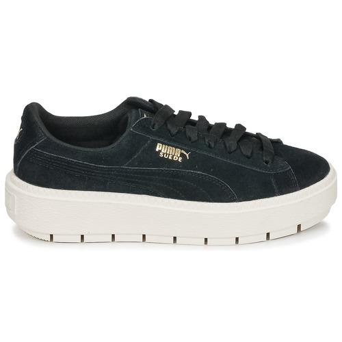 Puma SUEDE PLATFORM TRACE W'S W'S TRACE Schwarz / Weiss  Schuhe Sneaker Low Damen 71,40 cf9d96