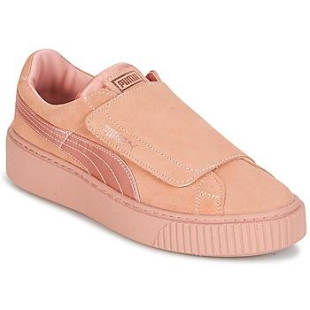 Schuhe Damen Sneaker Low Puma PLATFORMSTRAP SATIN EP W'S Rose
