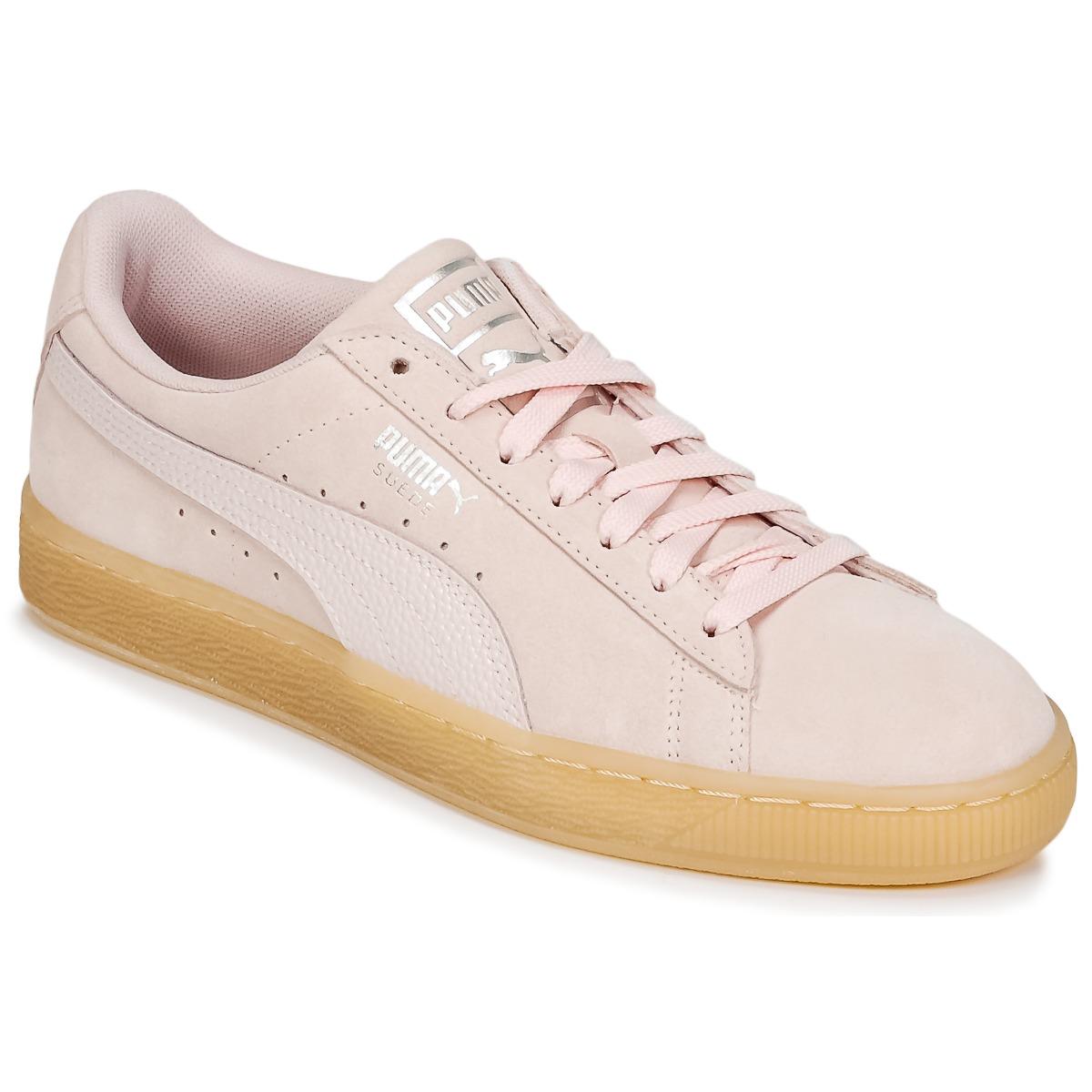 Puma SUEDE CLASSIC BUBBLE W'S Rose - Kostenloser Versand bei Spartoode ! - Schuhe Sneaker Low Damen 49,50 €