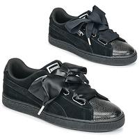Schuhe Damen Sneaker Low Puma SUEDE HEART BUBBLE W'S Schwarz