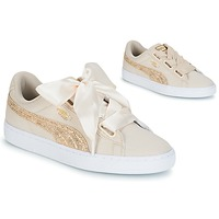 Schuhe Damen Sneaker Low Puma BASKET HEART CANVAS W'S Beige